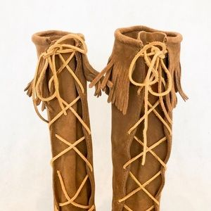 Minnetonka Shoes - Minnetonka Front Lace Knee High Boots